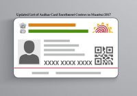 Updated List of Aadhar Card Enrollment Centers in Mumbai 2017